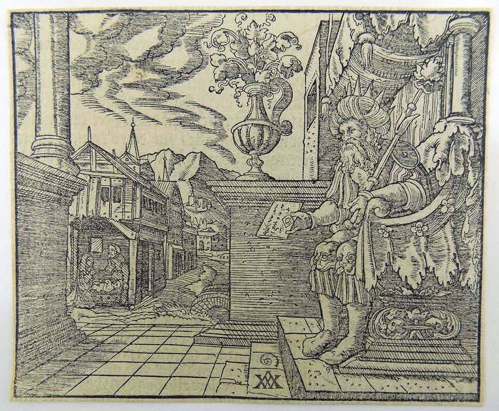 Woensam von Worms, A. (1500-1541); Master of Sachsen - King Solomon with depiction of Nativity -