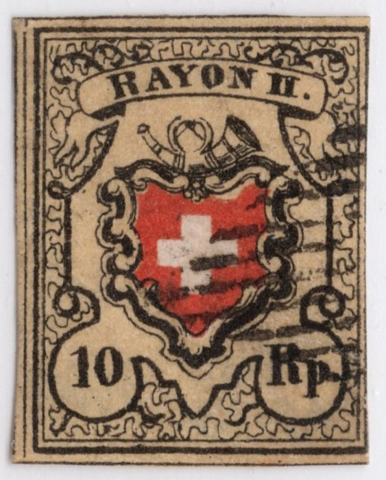 Zwitserland 1850 - Rayon from stone A2; expertised/signed - Zumstein/SBK Nr. 16II Stein A2