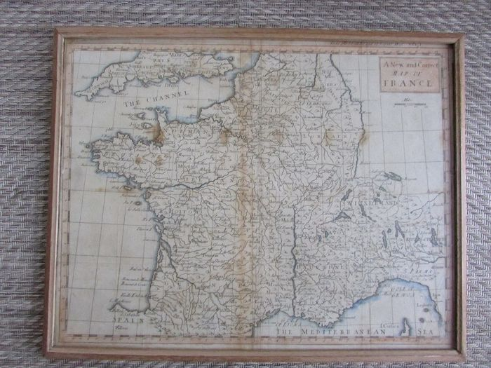 France; Rapin de Thoyras - A New and Correct Map of France - 1721-1750
