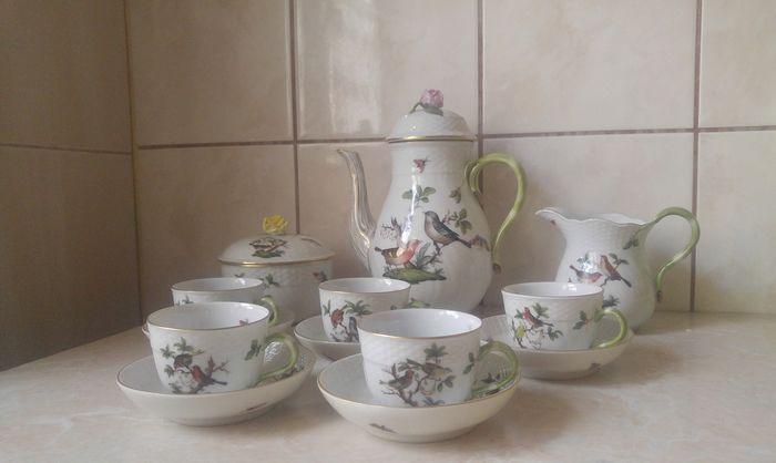 Herend - Rothschild Bird Tea-set - Porselein