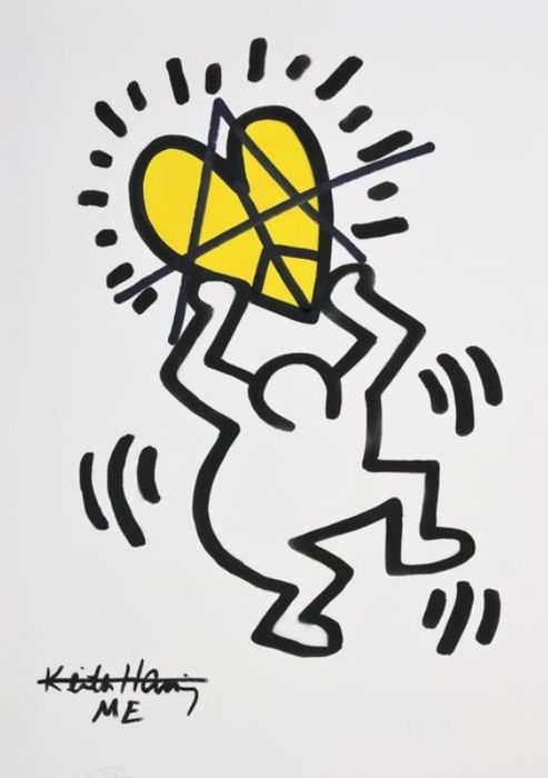 Ziegler T - My Kid Just Ruined My Keith Haring II (Yellow)