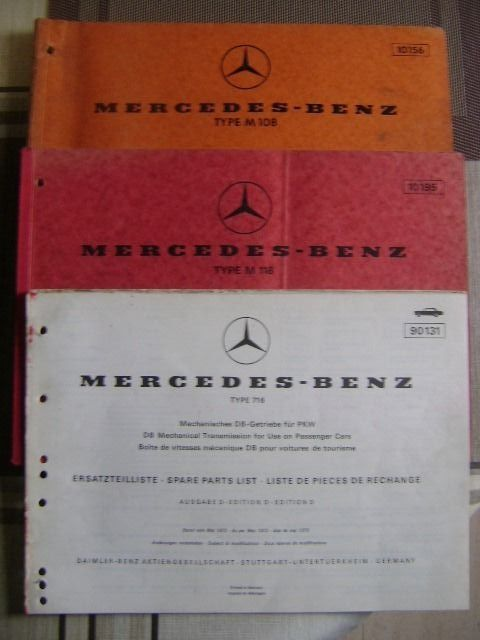 Engine / engine parts - Mercedes-Benz - mercedes motor wisselstukken catalogi - 1968-1973