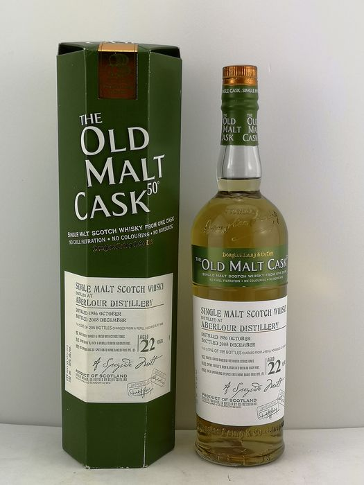 Aberlour 1986 22 years old The Old Malt Cask - Douglas Laing - b. 2008 - 700ml