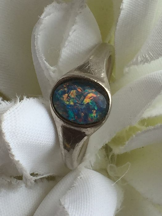 835 Zilver - Ring Opaal