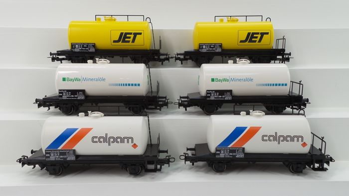 Märklin H0 - 94023 - Freight wagon set - 2x special editions of Mineralöle 'JET', 'Calpam' and 'BayWa' tank wagons - DB