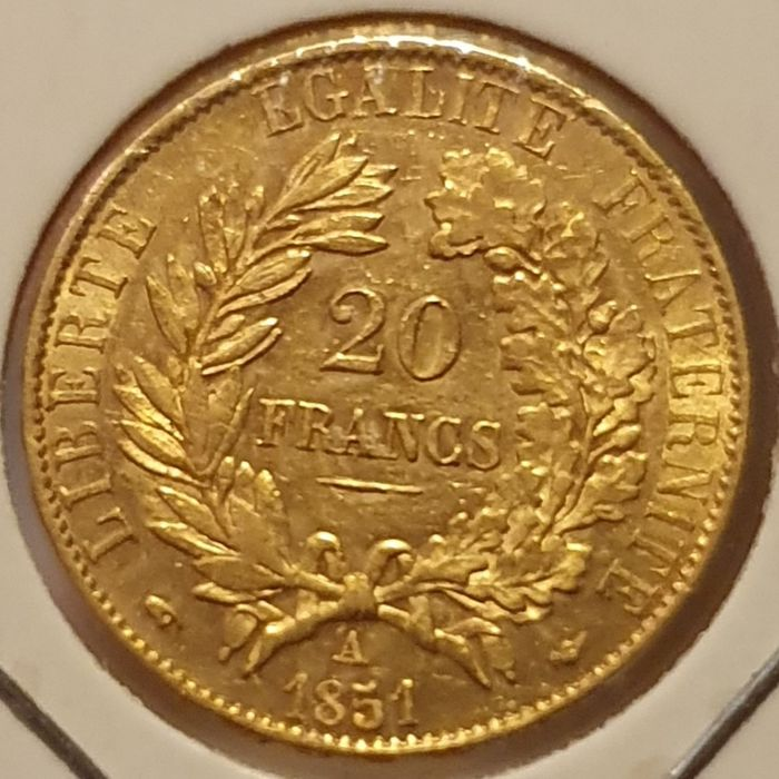 20 Francs 1851-A Cérès - Or