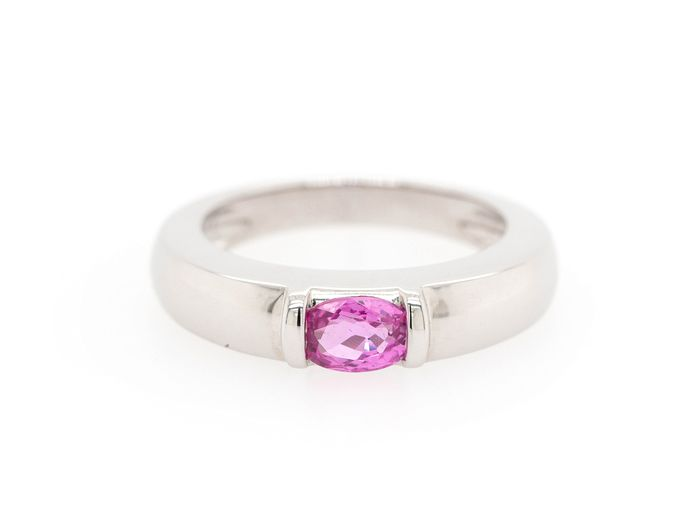 Chaumet - 18 kt. White gold - Ring Sapphire