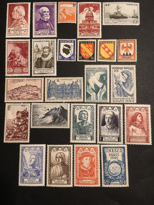 France 1946/1956 - 1945-1956 - Stamps including between No. 748 and 1090 - Yvert