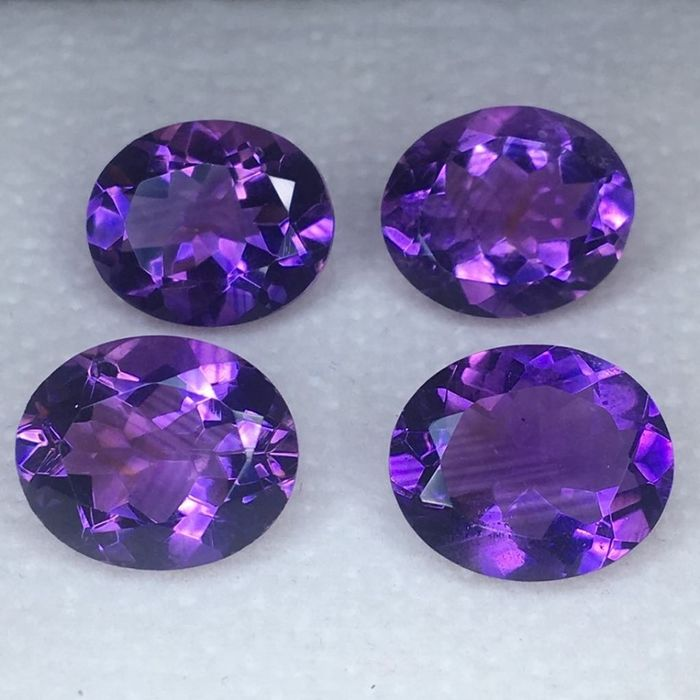 4 pcs Purple Amethyst - 16.62 ct