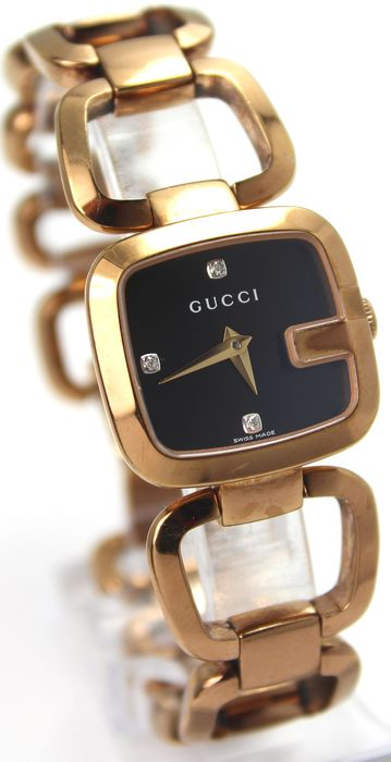 """Gucci - G Rose Gold Plated Diamond - Swiss Made """"NO RESERVE PRICE"""" - Women - 2011-present"""