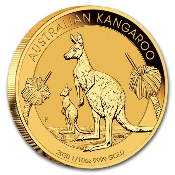 Australie - 15 Dollar 2020 Perth Mint Kangaroo - 1/10 oz  - Or