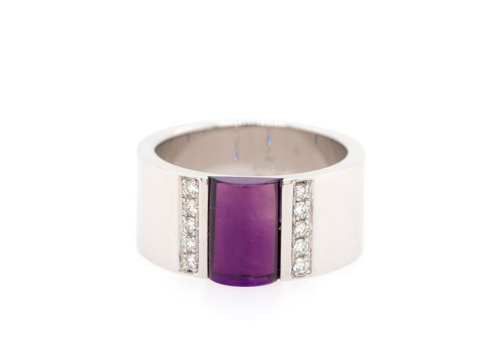 Gucci - 18 kt. White gold - Ring Amethyst