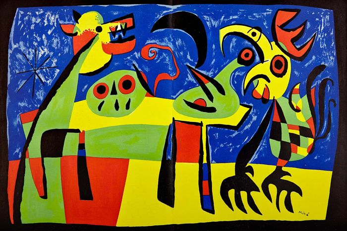 Joan Miró - The dog barking at the moon