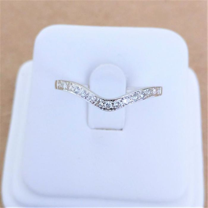 18 kt. White gold - Ring - 0.28 ct Diamond