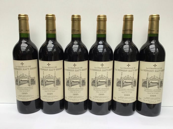 1998 La Chapelle de La Mission Haut-Brion, 2nd wine Ch. la Mission Haut Brion - Pessac-Léognan - 6 Bouteilles (0,75 L)
