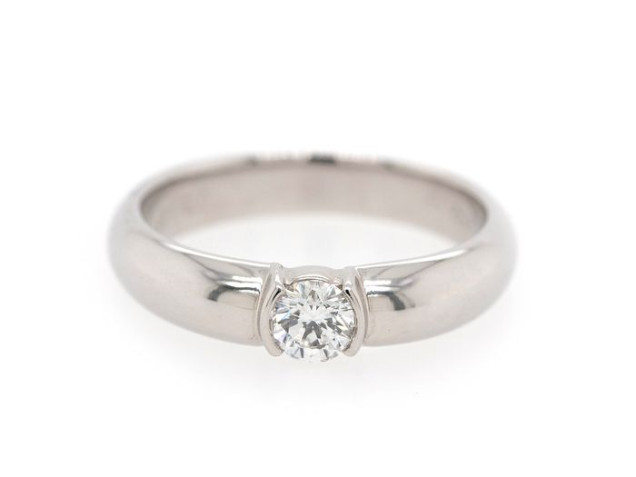 Tiffany & Co Etoile - 950PT Platin - Ring - 0.28 ct Diamant
