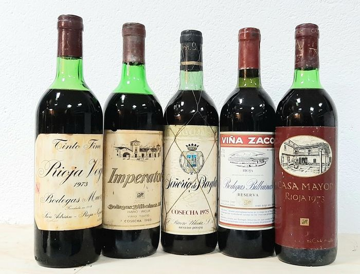 Lot of Red Wines - Rioja - 5 Bottles (0.75L)
