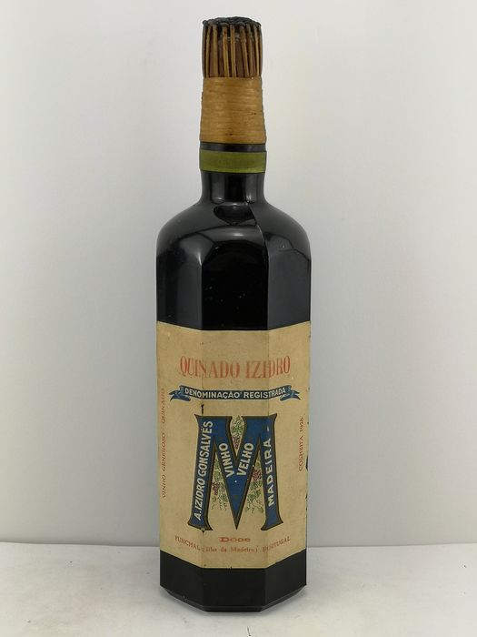 "1928 Izidro Gonsalves ""M"" Madeira Quinado Doce - 1 bottle (approx. 1.0L)"