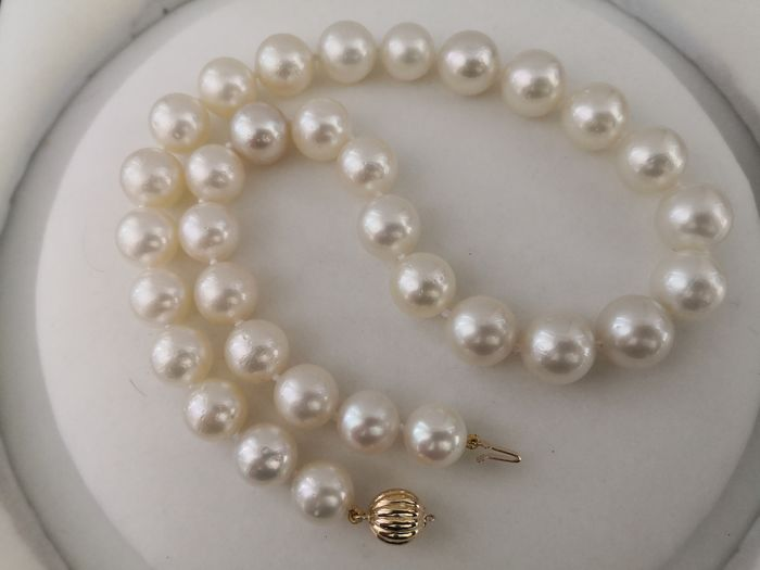 18 kt. South sea pearls, 11-14 mm round - Necklace