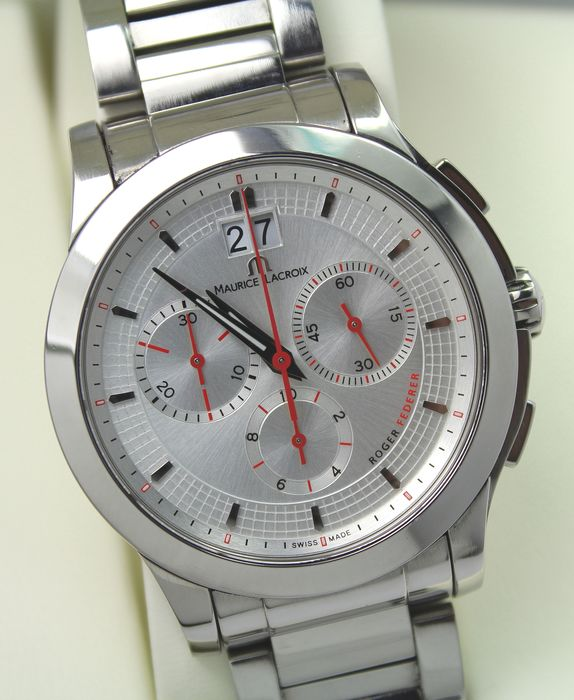 """Maurice Lacroix - Roger Federer Special Edition Chronograph - """"NO RESERVE PRICE"""" Swiss - Men - 2000-2010"""