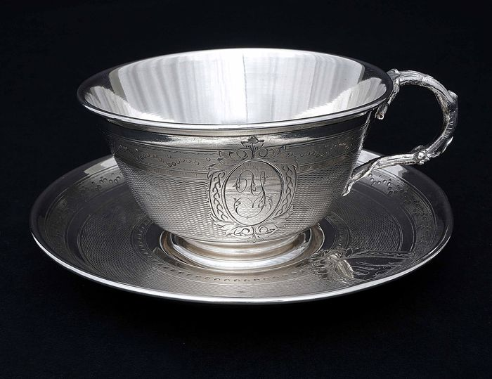 Cup with Saucer (1) - .950 silver - Jules Guetin (active 1880-1882) - France - Late 19th century