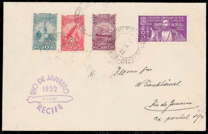 Weltweit 1929/1936 - Zeppelin Mail Lot of 8 covers