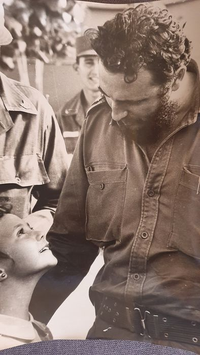Liborio Noval (1934-2012)  - Fidel Castro & little girl 1961