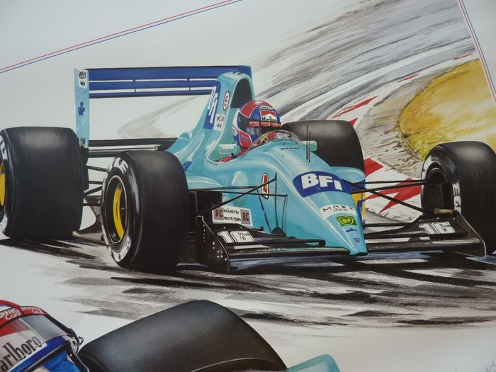 La lithographie - Jan Lammers - Leyton House March (gesigneerd) - 1992