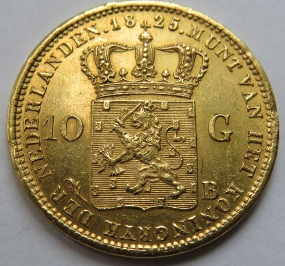 Pays-Bas - 10 Gulden 1825B Willem l - Or