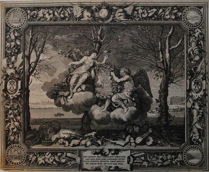 Sébastien Leclerc I (1637–1714) After Charles Le Brun (F1619–1690) - Tapestry representing the season of winter