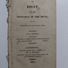 Richard Wright - An Essay on the Existence of the Devil, and his Influence on the Human Mind  - 1810