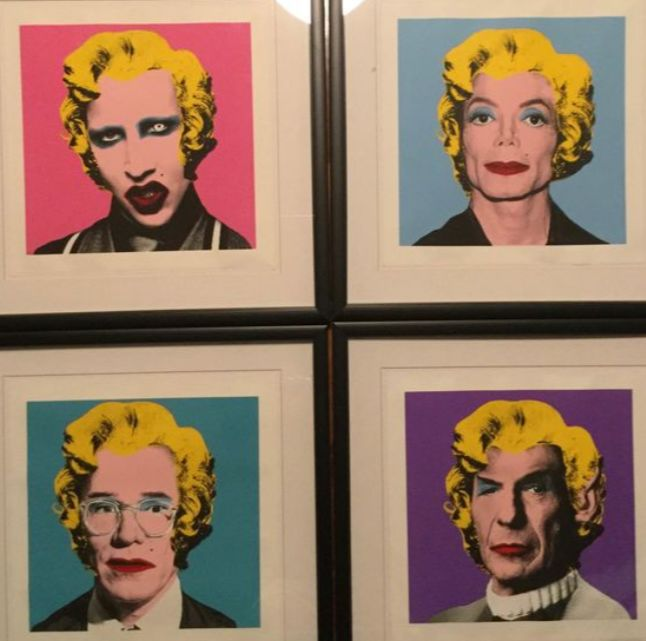 Mr. Brainwash - Warhol Series, the 4 prints: Manson, Michael Jackson, Spock, Andy Warhol