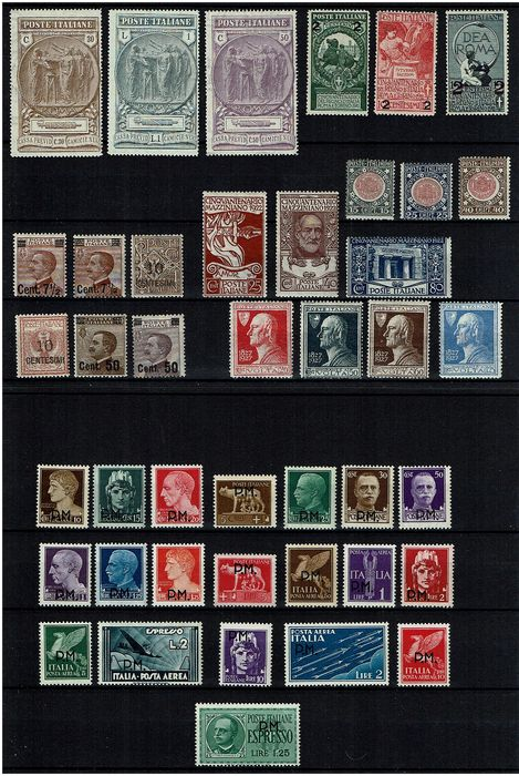 Italy Kingdom 1913/1942 - Lot composed of complete sets