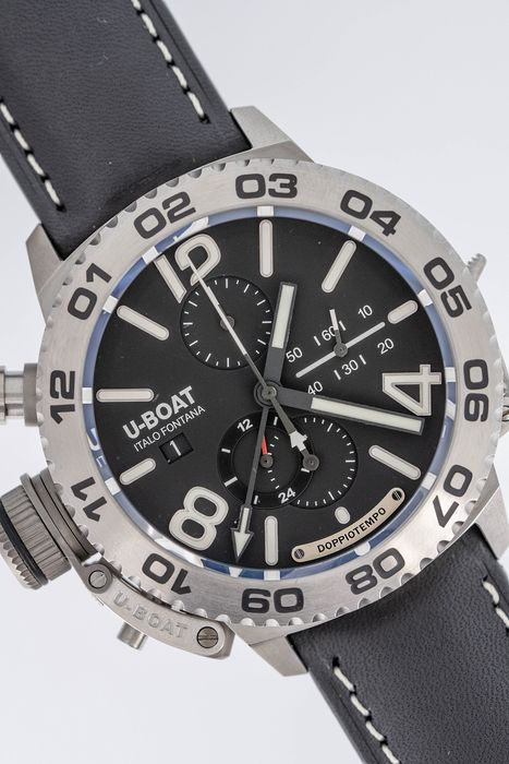 U-Boat - Doppiotempo Automatic GMT Chronograph Watch Stainless Steel - 9016 - Hombre - Brand New
