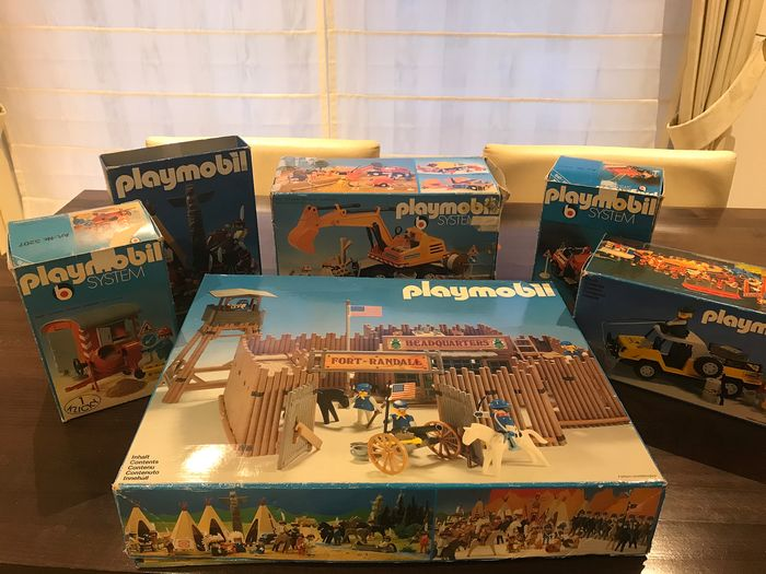 Playmobil - Vintage - Fort Randall, lavori in corso, indiani - 1980-1989