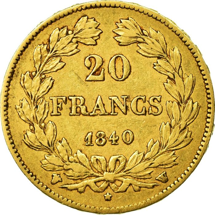 20 Francs 1840-W Louis Philippe I - Or