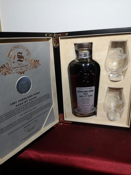 Highland Park 1991 27 years old 30th Anniversary - Signatory Vintage - 70cl
