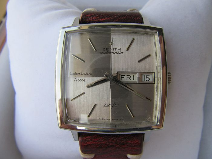 """Zenith - Luxe Respirator Automatic - AF/P Day Date - """"NO RESERVE PRICE"""" - Heren - 1970-1979"""