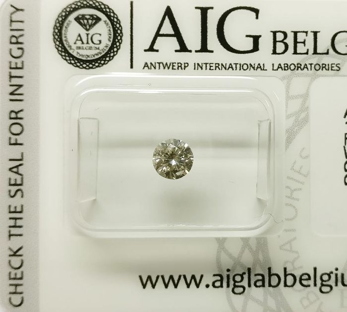 Diamond - 0.37 ct - Brilliant - J - SI2