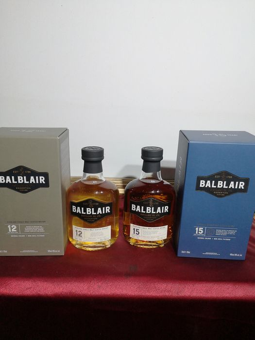 Balblair 12 years old & 15 years old - 70 cl - 2 botellas