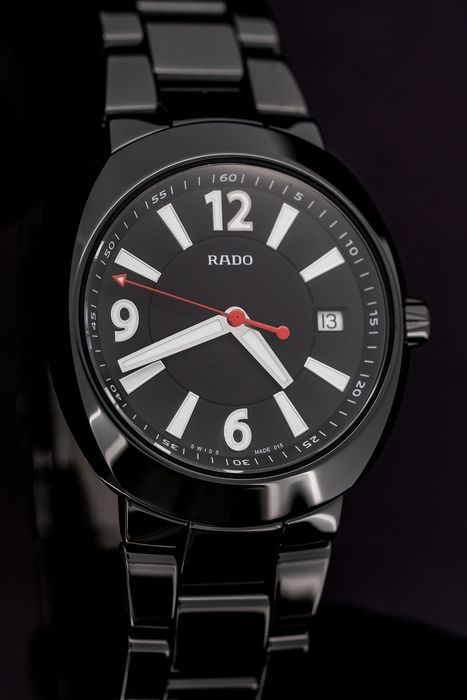 "Rado - Watch D-Star Plasma Black Ceramic 42mm ""NO RESERVE PRICE"" - R15518152 - Herren - BRAND NEW"