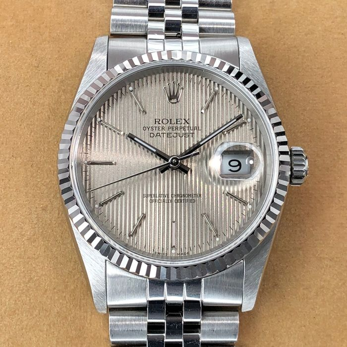 Rolex - Datejust Grey Tapestry Dial  - 16234 - Men - 1990-1999