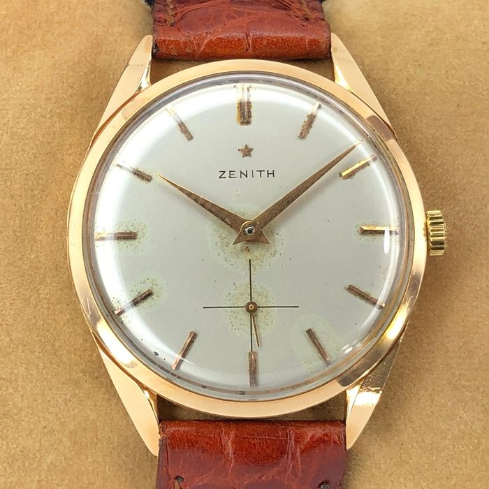Zenith - Manual winding - Yellow gold 18Kt - Heren - 1960-1969
