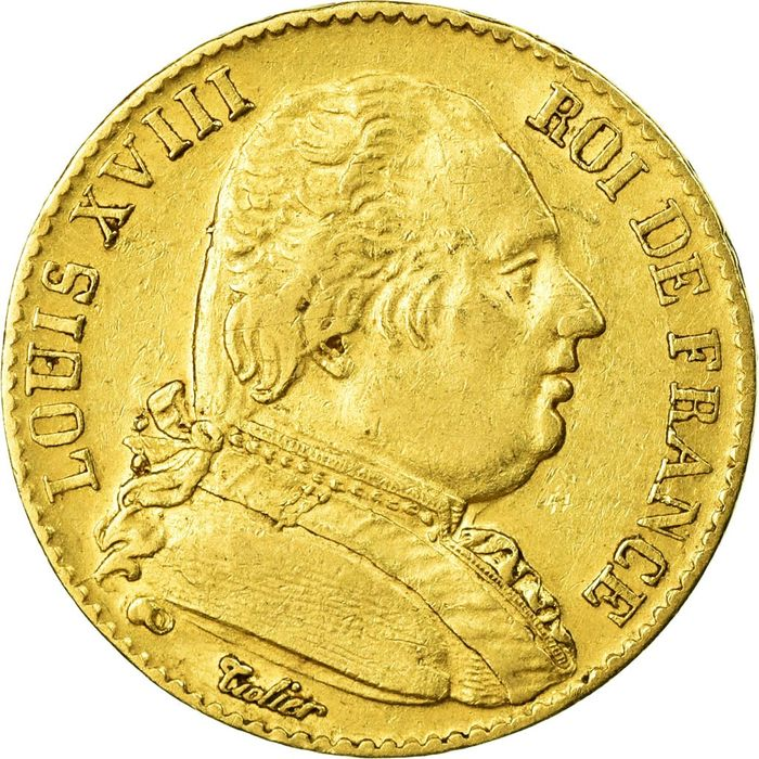 20 Francs 1815-A Louis XVIII - Or