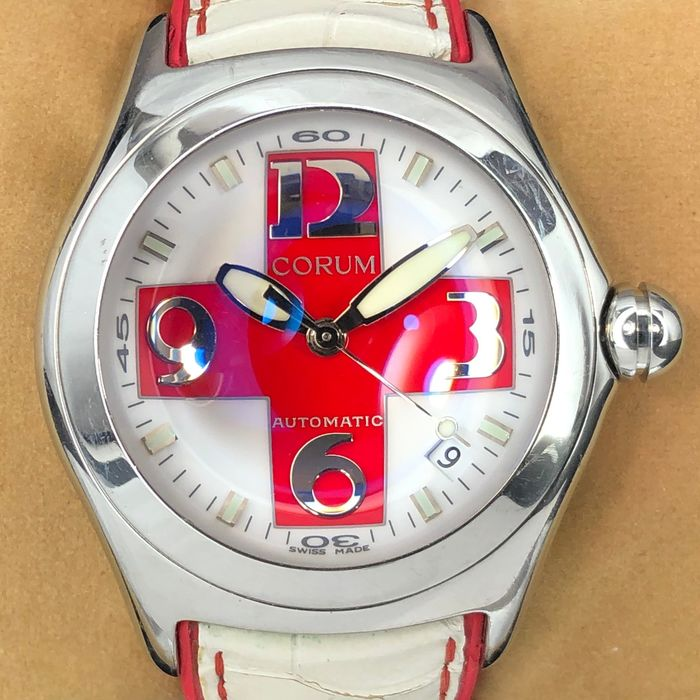 Corum - Bubble Red Cross Limited Edition 200pc - 82.150.20 - Heren - 2000-2010