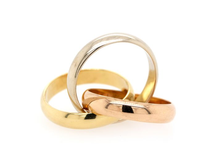 Cartier Trinity Tricolor  - 18 kt. Pink gold, White gold, Yellow gold - Ring
