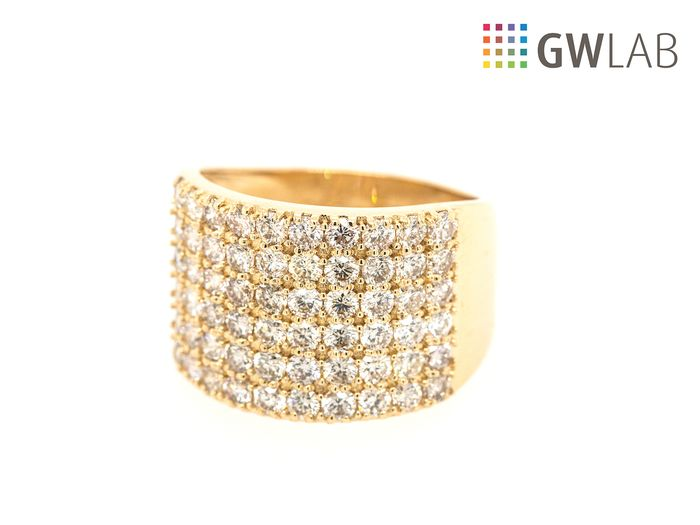14 kt. Yellow gold - Ring - 2.14 ct Diamond - D/F - VS/SI - No Reserve Price