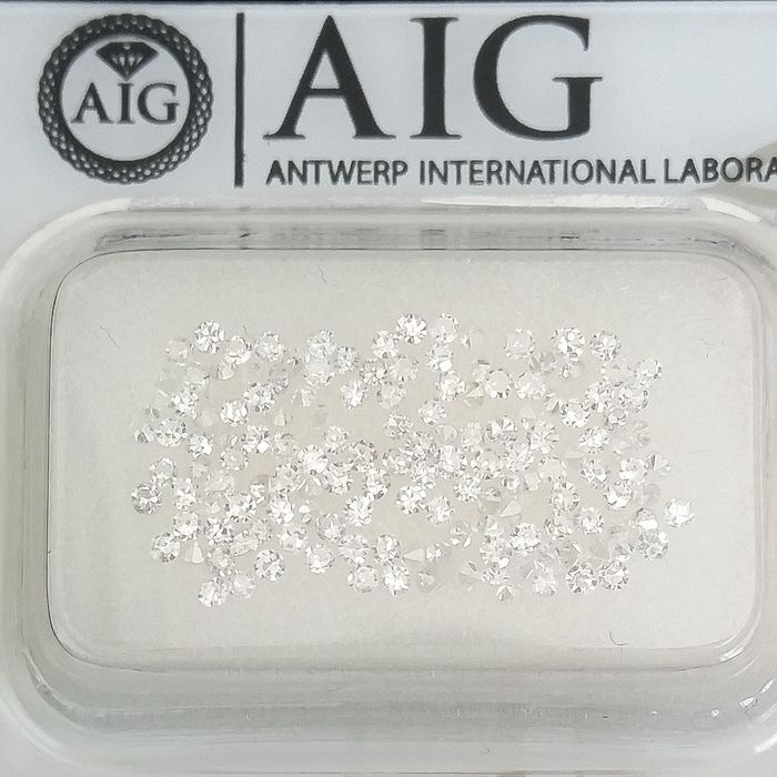 147 pcs Diamonds - 1.00 ct - Round - D (colourless), E - SI1, SI2, VS1, VS2, VVS1, VVS2, ***No Reserve Price***