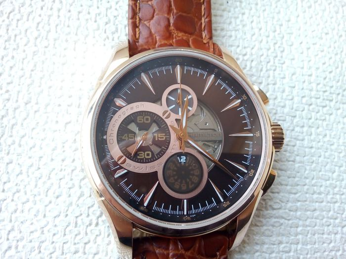 Hamilton - Jazzmaster open secret rose gold chrono - H327460 - Homme - 2011-aujourd'hui