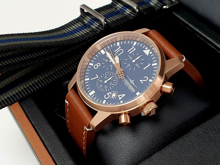 THUNDERBIRDS - pilot watch blue dial in luxury box + free omega style strap - Thunderbirds  - Homme - 2019